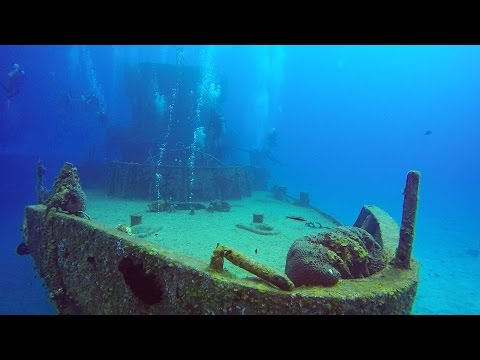 14. Scuba Diving in Cozumel, Mexico. Wreck C-53. GoPro Hero4 Silver