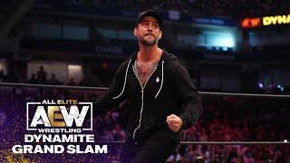 CM Punk Rocks 20,000 fans in Arthur Ashe Stadium | AEW Dynamite Grand Slam, 9/22/21