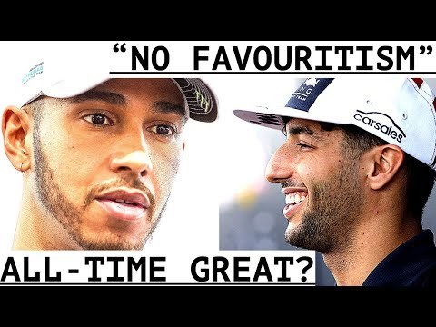 "Hamilton ""One Of The Best In History"" - Ricciardo ""Verstappen Not Favoured"" -""Kvyat Will Not Return"""