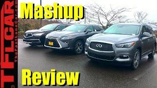 2017 Acura MDX Hybrid vs Lexus RX450h vs Infiniti QX60: What