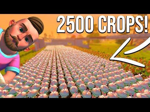 2,500 CROPS PLANTED W/KAN (BIGGEST FARM YET) - SCRAP MECHANICS SURVIVAL #30
