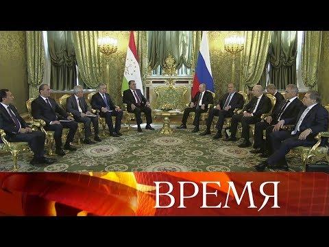 Отношения России и Таджикистана обсуждали на встрече президенты Владимир Путин и Эмомали Рахмон.