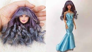 Doll Makeover Transformation 👗 DIY Barbie Doll Dresses 👗 Gown For Barbie