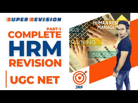 COMPLETE HRM REVISION || HUMAN RESOURCE MANAGEMENT || UGC/NTA NET COMMERCE 2020