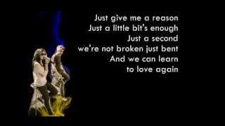 P!nk - Just Give Me A Reason Cover By Sarah Geronimo And Bamboo (LYRICS)