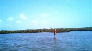 Port Aransas redfish on the fly