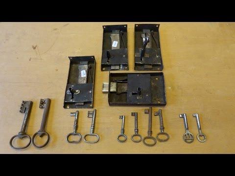 Biedermeier Zylindersekretär Restaurierung Teil 7 Schloß, Schlüssel