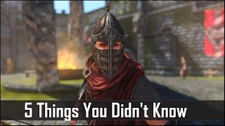 Skyrim: 5 Things You Probably Didn't Know You Could Do - The Elder Scrolls 5: Secrets (Part 8)