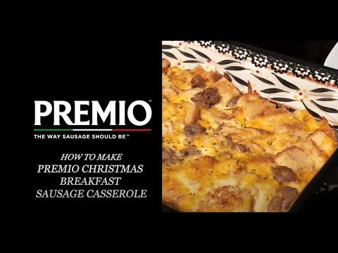 Premio Christmas Breakfast Sausage Casserole