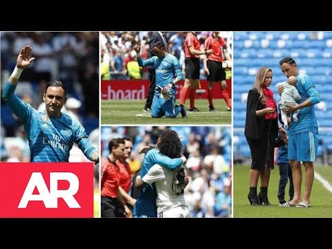 Afición del Real Madrid se despide de Keylor Navas