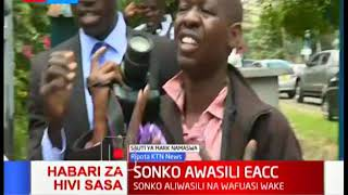 Governor Mike Sonko, his bodyguard assault Journalist during fracas at EACC offices