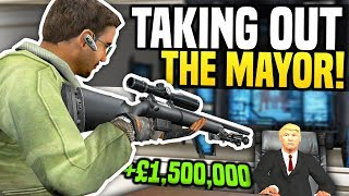 TAKING OUT THE MAYOR FOR £1,500,000 - Gmod DarkRP | Hitman Roleplay!