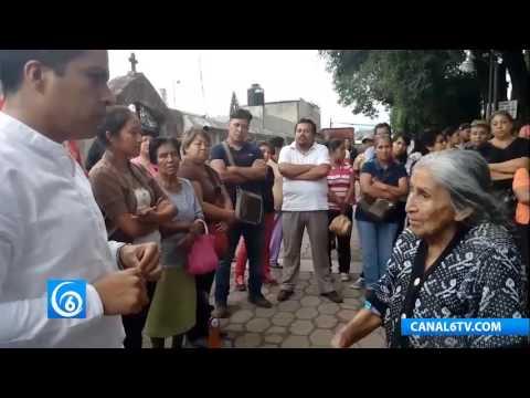 El diputado Hector Javier Álvarez, respalda a vecinos de Totolapan, Morelos