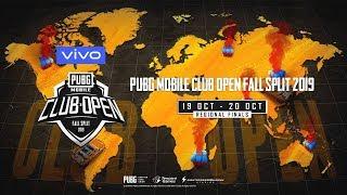 [EN] PMCO Wildcard Regional Finals Day 1 | Vivo | Fall Split | PUBG MOBILE CLUB OPEN 2019
