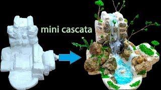 Como Fazer Uma Cascata Feito De Cola Quente E Cola De Silicone Part-1 Video Sculpindo O Isopor
