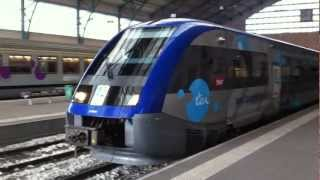preview picture of video 'Train departing Le Havre Gare'
