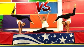 Ultimate Gymastics Challenge Ft Rebecca Zamolo (Aussies Vs American)