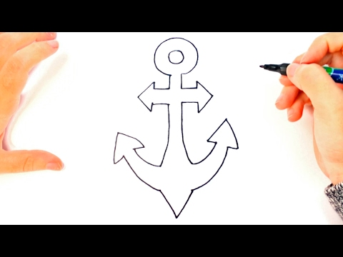 Cómo dibujar un Ancla paso a paso   Dibujo fácil de Ancla