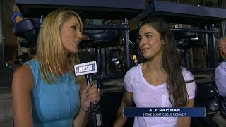 KC@BOS: Aly Raisman on first pitch, experience in Rio