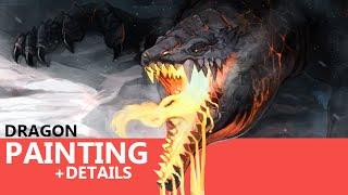 Molt Dragon - DIGITAL Painting Time Lapse Illustration