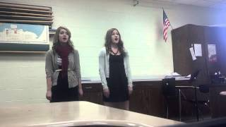 """He's Gone Away"" sung by Kaeli and Emily"