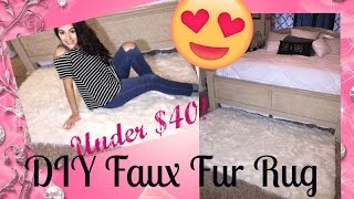 DIY Faux Fur Rug Under $40 From Jo-Anns