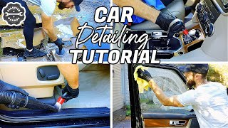Complete Full Car Interior Detailing Of A Land Rover LR4 || Deep Cleaning in 1 Hour