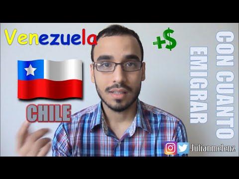Emigrar de Venezuela a Chile ¿Cuánto dinero necesito?