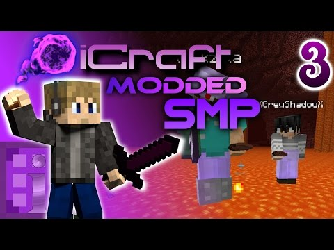 WALKING ON LAVA!! - iCraft Modded SMP Episode 3 - [Minecraft 1.10 Modpack SMP]