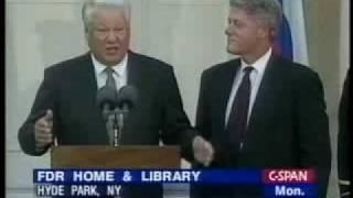 Ельцин и Клинтон. New York, Hyde Park, 23 октября 1995 г. [1/2]