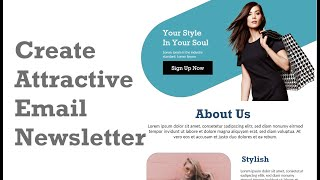 How To Make Fashion Newsletter | Email Ecommerce Newsletter | Adobe XD | Speed UI