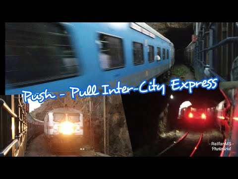 Push-Pull Intercity Express| Crossing with Deccan Queen| 3 WAP-7s