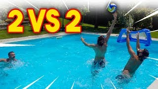 ‍♂️⚽ 2 vs 2 IN PISCINA! w/ FIUS GAMER, ENRY LAZZA e TATINO23