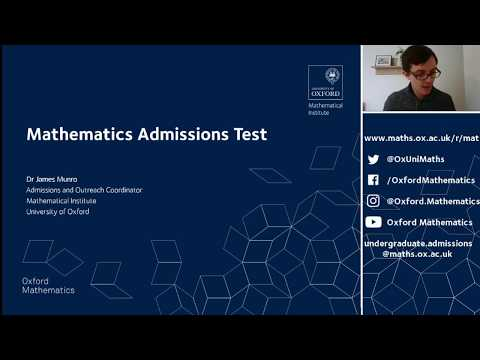 How to prepare for MAT (Oxford Mathematics Admissions Test ...