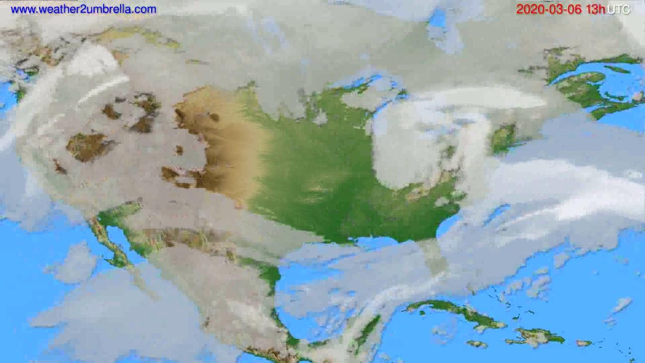 Cloud forecast USA & Canada // modelrun: 12h UTC 2020-03-05