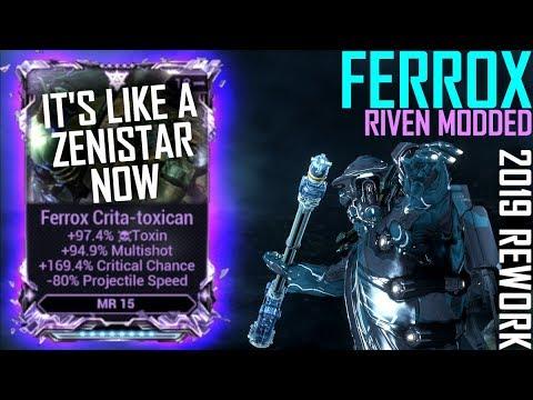 [Warframe] FERROX IS NOW ZENISTAR 2 [Ferrox riven modded]