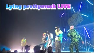 LYING   PRETTYMUCH Ft LIL TJAY *LIVE NEW YORK SHOW*