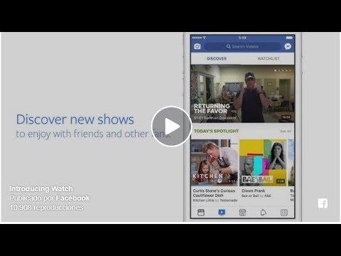 Adiós a YouTube Facebook lanza una nueva plataforma para ver series y programas