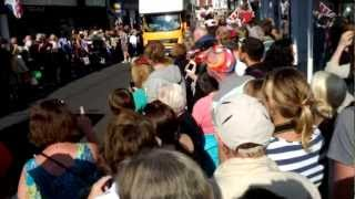 preview picture of video 'Olympic Torch Procession Through Godalming'
