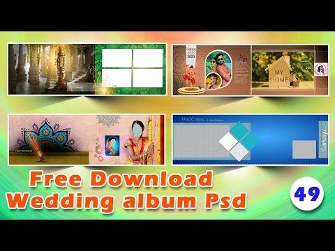 Indian wedding album templates psd file free download fully editable | srinu photo editing