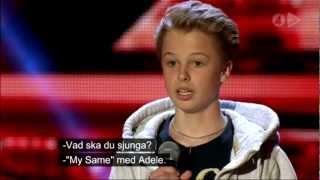 X factor Isak 14 sings adele-my same