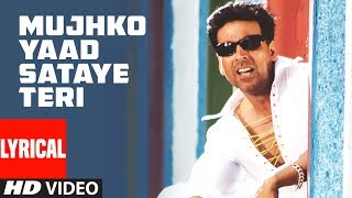 Mujhko Yaad Sataye Teri Lyrical Video Song | Phir Hera Pheri | Akshay Kumar, Rimi Sen