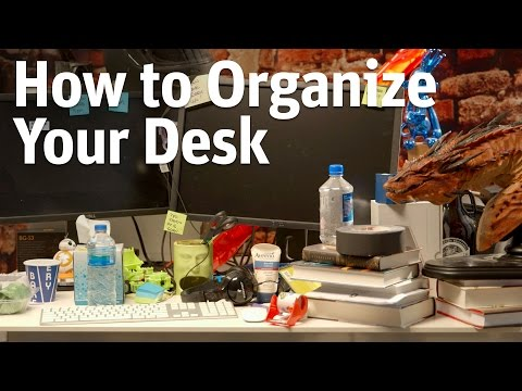 How To Declutter Your Desk And Get Organised