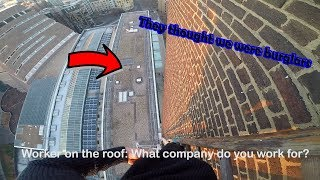 SECURITY LOCKED US ON ROOF UNTIL POLICE CAME! MY MOST DANGEROUS CLIMB YET..