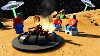 LEGO ALIENS FOUND ON CAMPING TRIP IN AREA 51?! (Brick Rigs Gameplay Roleplay) Lego Aliens!