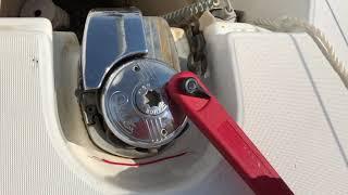 Windlass anchor winch manual operation