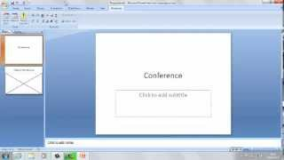 How to put a video on to Microsoft Powerpoint 2007