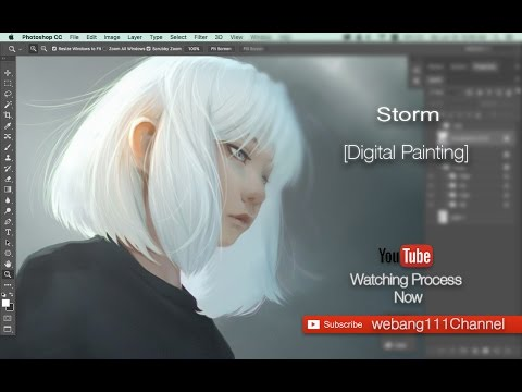 digital painting of character model storm by webang111