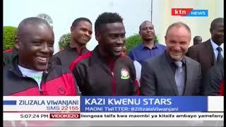 Rais Uhuru aongoza sherehe ya kuwakabidihi rasmi Harambee stars bendera kabla ya kuondoka kesho