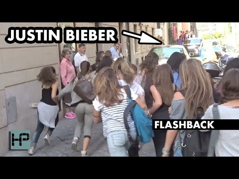 Flashback: Justin Bieber Causes CHAOS in the Streets of Rome - Wild Video